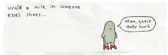 Image result for walk a mile in someone elses shoes