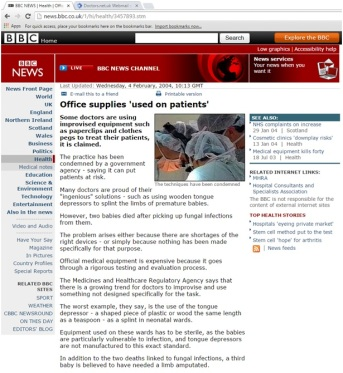 4: The BBC substitutes sarcasm with inverted commas as the lowest form of wit
