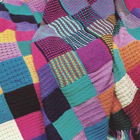elegant ba blanket knitting patterns squares instant download pdf Patchwork Quilt Knitting Pattern